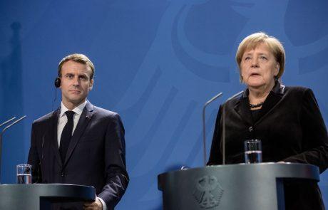 Macron v Berlinu za odprto, miroljubno in močnejšo Evropo