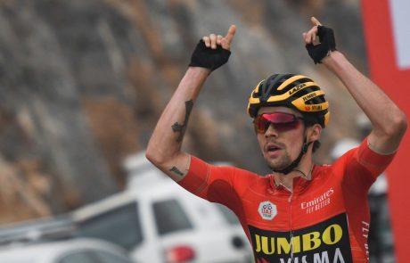 """Primož Roglič bo danes v 11. etapi dirke po Španiji branil rdečo majico vodilnega: """"Pred nami je velik dan za vse nas"""""""