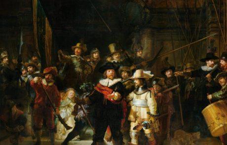 V Rijksmuseumu začeli restavrirati Rembrandtovo mojstrovino Nočna straža, dela lahko spremljate v živo preko spleta