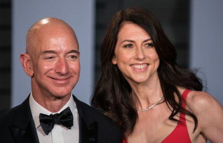 Ustanovitelj Amazona Bezos sklenil največjo ločitveno poravnavo v zgodovini: Bivša žena po ločitvi postala tretja najbogatejša Zemljanka
