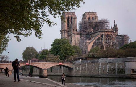 Po zaustavitvi zaradi koronairusa bodo sedaj spet nadaljevali prenovo katedrale Notre Dame
