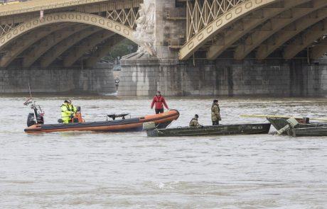 V Budimpešti nadaljujejo iskalno akcijo za 21 pogrešanimi po nesreči turistične ladje na Donavi
