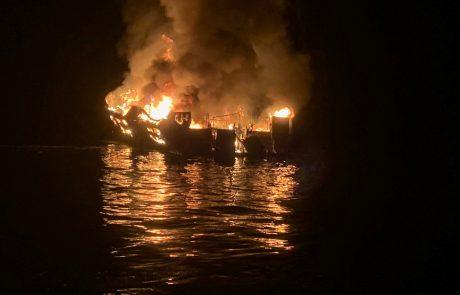 Pred obalo Kalifornije zagorela turistična ladja, več kot 30 ljudi pogrešanih