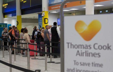 Ikonični britanski potovalni velikan Thomas Cook čez noč propadel