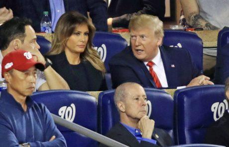 Trumpa in Melanijo izžvižgali na tekmi finala lige v baseballu