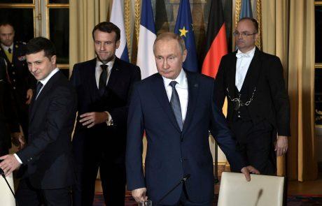 Putin in Zelenski za čimprejšnjo prekinitev ognja na vzhodu Ukrajine