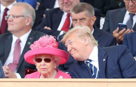 Trump: Sem velik prijatelj kraljice Elizabete, toda ZDA ne bodo plačevale za varnost Harryja in Meghan