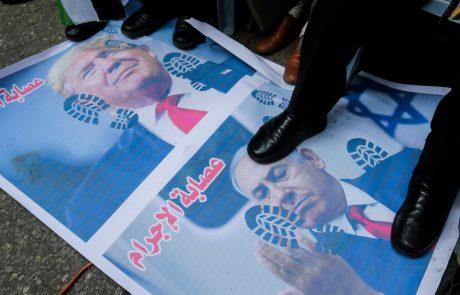 Trump predstavil svoj 'mirovni načrt' za Izrael in Palestino