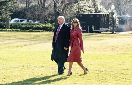 Ameriški predsednik Trump skupaj z Melanio na prvi obisk v Indijo