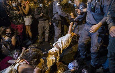 Izraelske oblasti na protestih proti Netanjahuju aretirale 12 ljudi