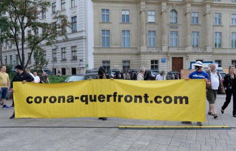 Na dunajskih protikoronskih protestih neonacisti, v Zagrebu Tony Cetisnki