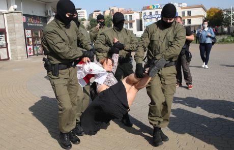 V beloruski prestolnici znova protest žensk proti Lukašenku