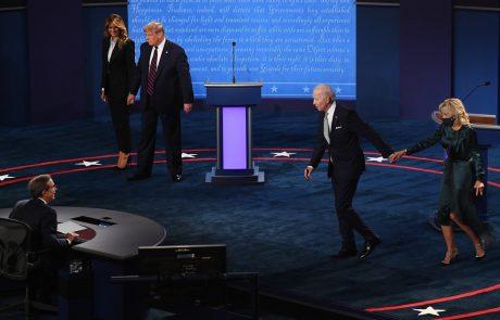 Na zadnjem soočenju Trumpa in Bidna, ki bo v četrtek, jima bodo vmes izključevali mikrofona