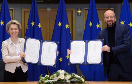 Von der Leynova in Michel podpisala sporazum o odnosih z Združenim kraljestvom