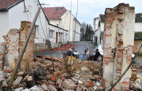 Območje Petrinje stresel nov močnejši potres