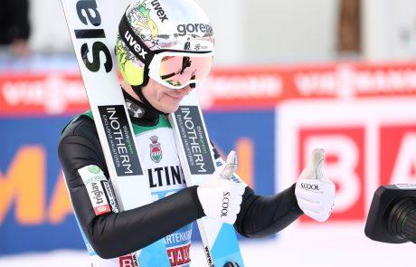 Anže Lanišek bronast na SP v Oberstdorfu, prvak Piotr Žyla