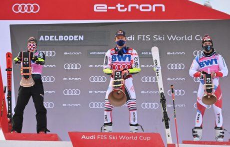 Pinturault z najhitrejšo finalno vožnjo do tretje zmage v Adelbodnu