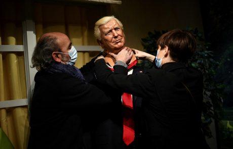Iz muzeja voščenih lutk umaknili Donalda Trumpa, ker so ga obiskovalci pretepali