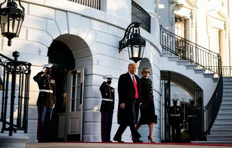 Donald in Melania Trump zapustila Belo hišo in odletela na Florido