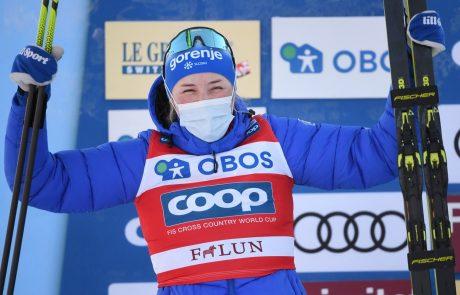 Lampičeva osvojila srebro v sprintu v Falunu
