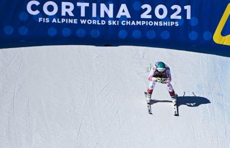 Prvi vrhunec svetovnega prvenstva v alpskem smučanju v Cortini d'Ampezzo je pripadel Avstrijcem