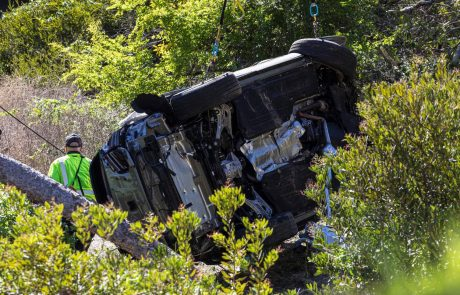 Tiger Woods včeraj doživel hudo prometno nesrečo