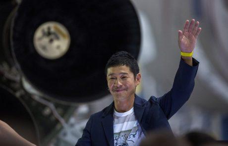 Bi šli v vesolje? Mlad milijarder bo osmim ljudem častil polet na Luno