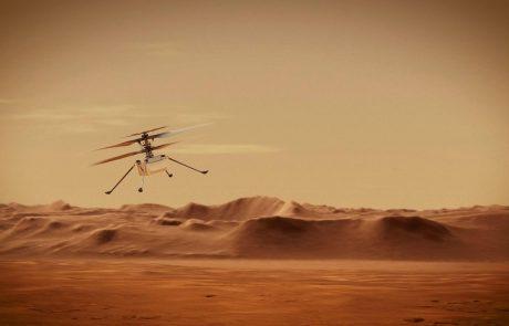Nasin helikopter pripravljen na prvi polet na Marsu