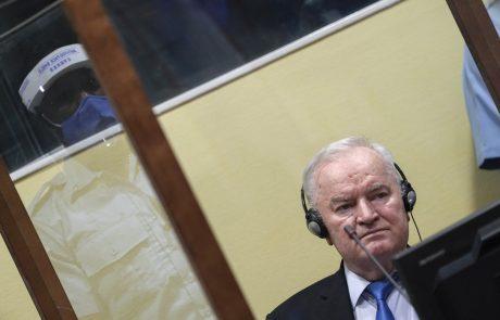 Vojni zločinec Mladić pravnomočno obsojen na dosmrtni zapor zaradi genocida in zločinov nad Bošnjaki