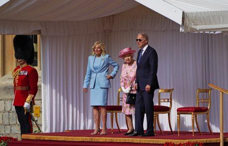 Kraljica Elizabeta II. sprejela ameriškega predsednika Bidna