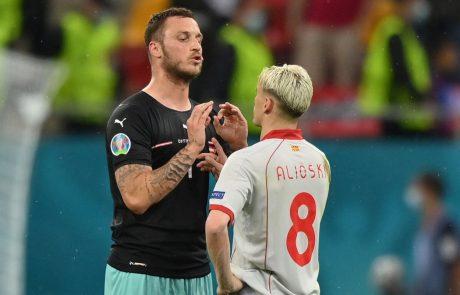Uefa preiskuje rasistični izpad avstrijskega nogometaša Arnautovića proti nogometašu Severne Makedonije