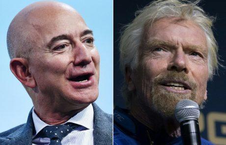 BRANSON vs. BEZOS: Milijarderja tekmujeta, kdo bo prvi poletel v vesolje