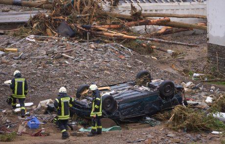 Katastrofalne poplave v Nemčiji terjale vsaj 80 življenj