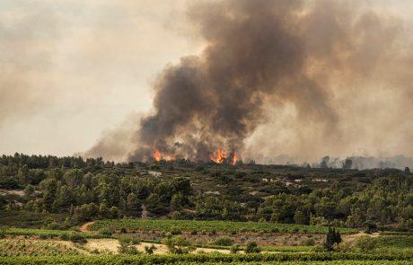 Požar zahodno od Barcelone ušel izpod nadzora in doslej uničil 1100 hektarjev površin