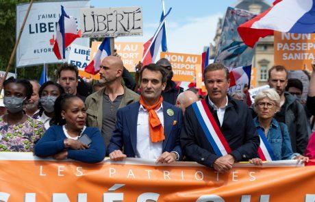 V Franciji najmnožičnejši protesti proti covidnemu potrdilu doslej
