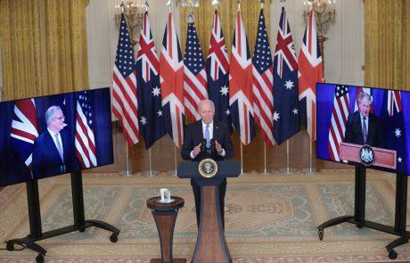 ZDA, Velika Britanija in Avstralija sklenile novo varnostno zavezništvo Aukus