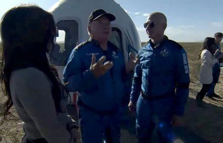 90-letni William Shatner danes postal najstarejši obiskovalec vesolja