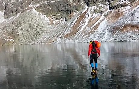 Na Slovaškem lahko hodijo po vodi – dobesedno (video)