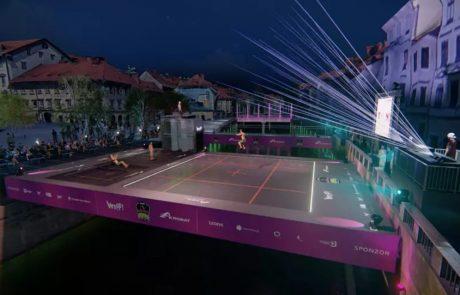 Ljubljana po odbojki in plezanju na vodi zdaj dobiva še največji trampolin